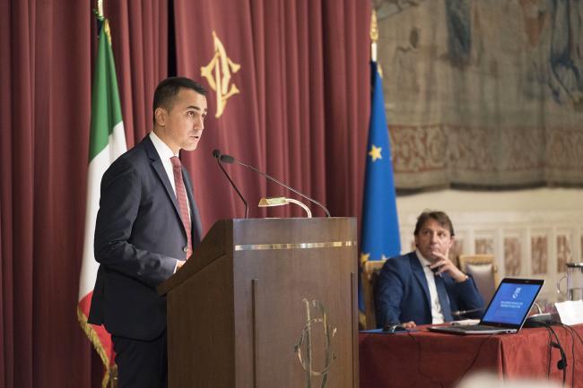 Il Vice Presidente Di Maio alla presentazione del Rapporto annuale dell'INPS