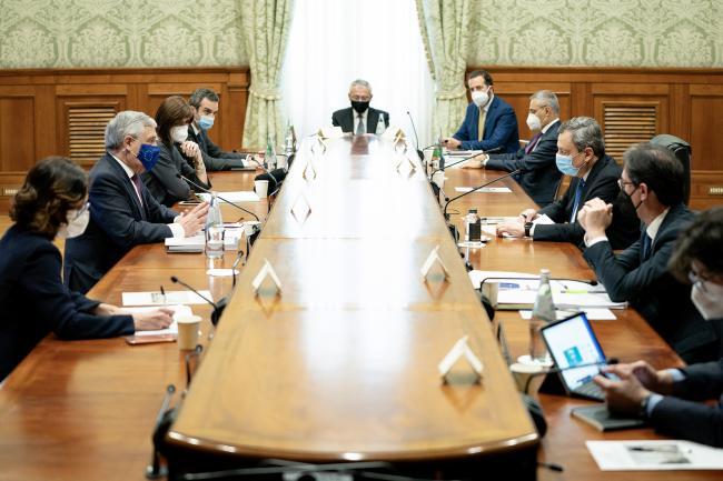 Il Presidente Draghi incontra la delegazione di Forza Italia sul PNRR