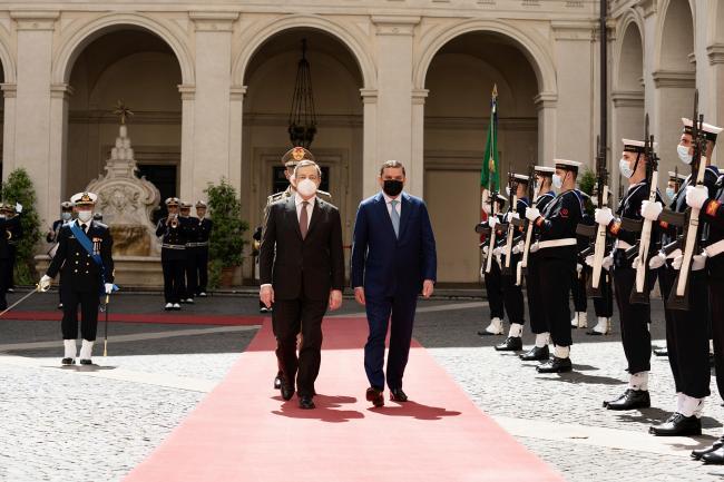 Il Presidente Draghi incontra il Primo Ministro libico Dabaiba