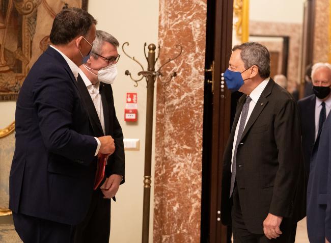 Il Presidente Draghi incontra i sindacati
