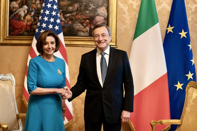 PM Draghi meets with Speaker of the U.S. House of Representatives