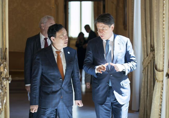Il Presidente Conte incontra il Direttore Generale della FAO