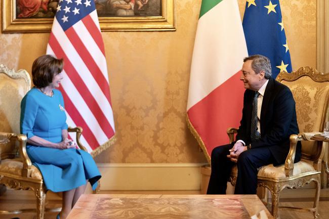 Draghi incontra la Speaker della Camera dei Rappresentanti degli Stati Uniti