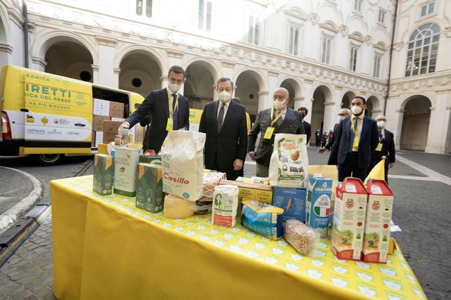 """""""A sostegno di chi ha più bisogno"""", l'iniziativa di solidarietà alimentare presentata a Palazzo Chigi"""