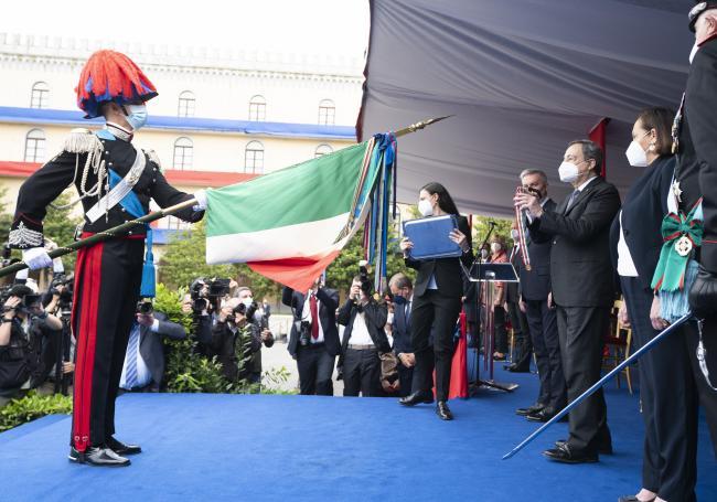 Il Presidente Draghi alla cerimonia per il 207° Annuale di Fondazione dell'Arma dei Carabinieri