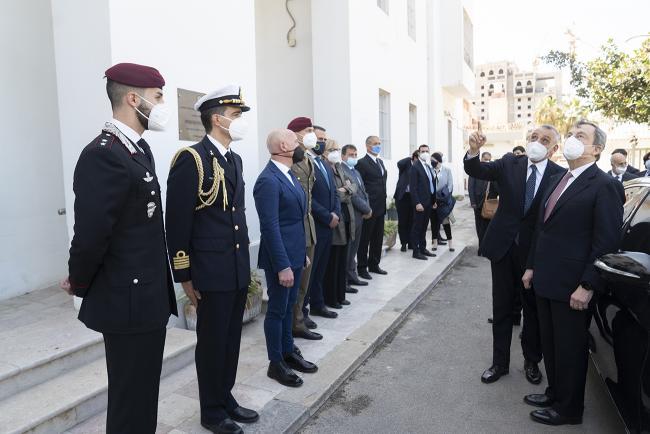 Draghi in visita in Libia