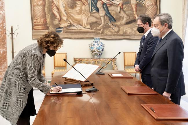 Cerimonia di giuramento del Sottosegretario Caterina Bini