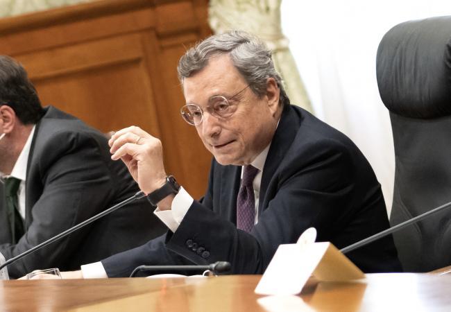 Draghi incontra i sindacati Cgil, Cisl e Uil