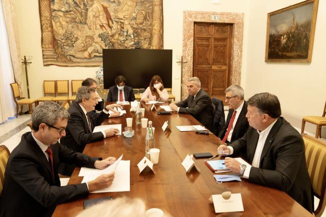 Il Presidente Draghi ha incontrato le organizzazioni sindacali Cgil, Cisl, Uil
