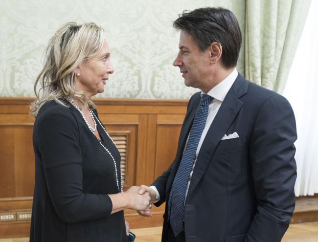 Il Presidente Conte con Claudia Fiaschi, portavoce del Forum Terzo Settore