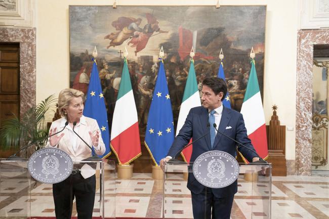 Conte incontra la Presidente von der Leyen