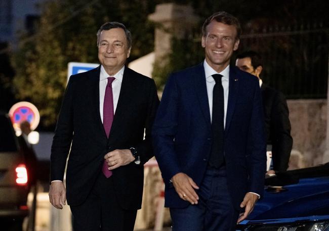 Incontro Draghi - Macron a Marsiglia