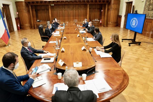 Il Presidente Draghi incontra la delegazione del Partito Democratico sul PNRR