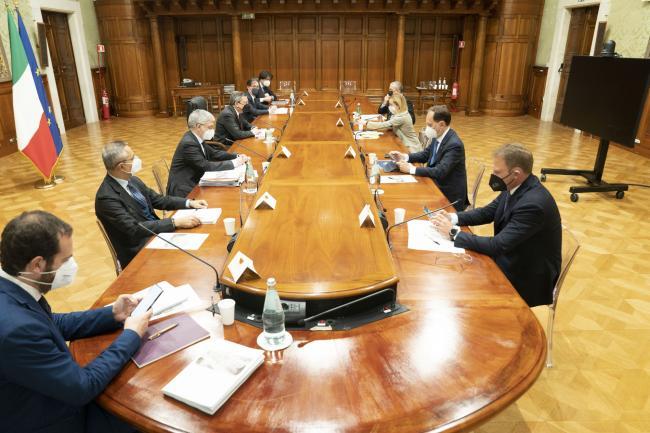 Il Presidente Draghi incontra la delegazione di Fratelli d'Italia sul PNRR