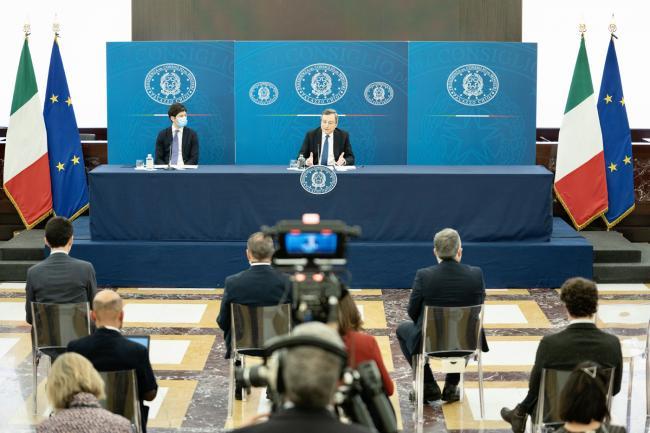 Conferenza stampa Draghi - Speranza