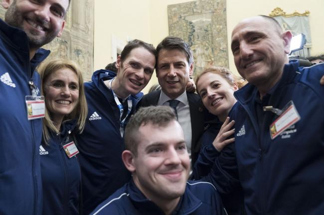 Incontro del Presidente Conte con gli Atleti Special Olympics