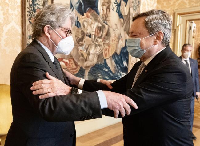 Incontro Draghi - Breton
