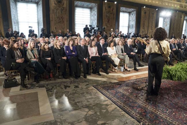 Il Presidente Conte al Quirinale per la celebrazione dell'8 marzo