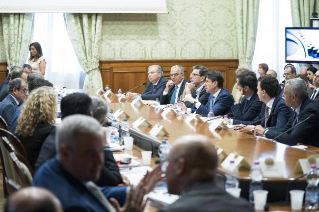 """""""Strategia Italia"""", a Palazzo Chigi la riunione della Cabina di regia"""