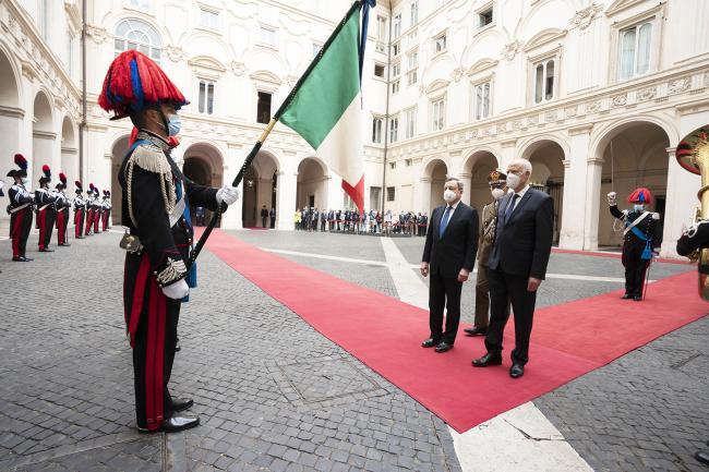 Il Presidente Draghi incontra il Presidente della Repubblica Tunisina, Kais Saied