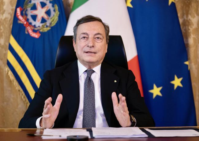 Il Presidente Draghi partecipa alla videoconferenza dei membri del Consiglio europeodel 25 e 26 febbraio