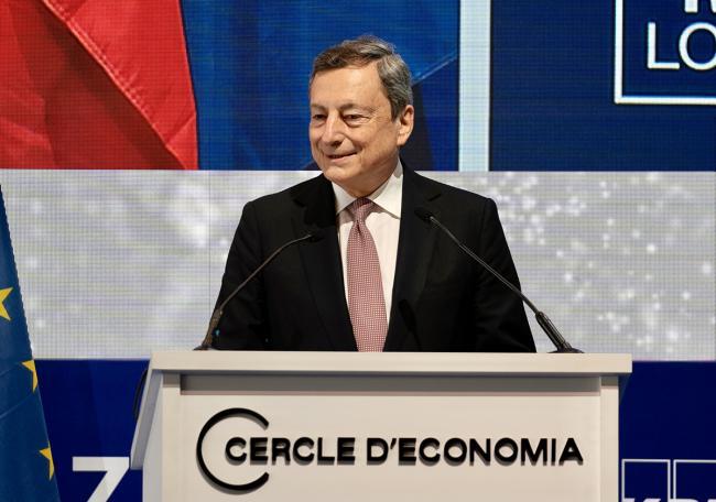 """Il Presidente Draghi interviene al """"Cercle d'Economia"""""""