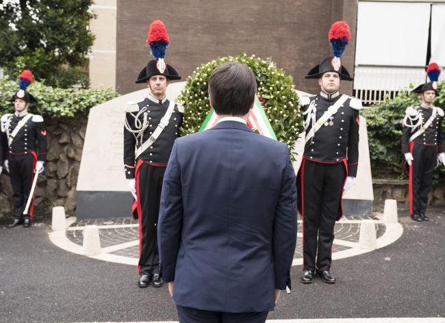 Anniversario del rapimento di Moro, il Presidente Conte a via Fani