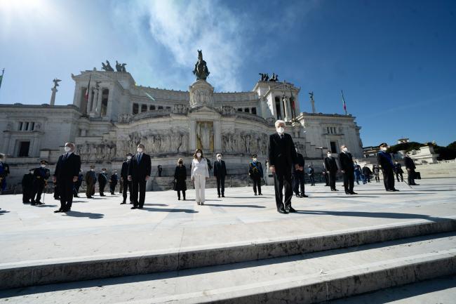 76° Anniversario della Liberazione, la Cerimonia all'Altare della Patria