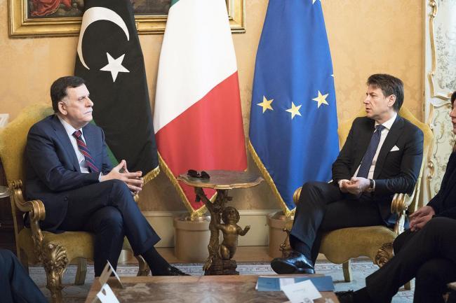 Conte incontra Fayez al Serraj