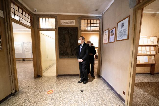 Il Presidente Draghi al Museo storico della Liberazione di via Torquato Tasso