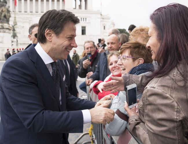 Il Presidente Conte alle celebrazioni del 158° anniversario dell'Unità d'Italia