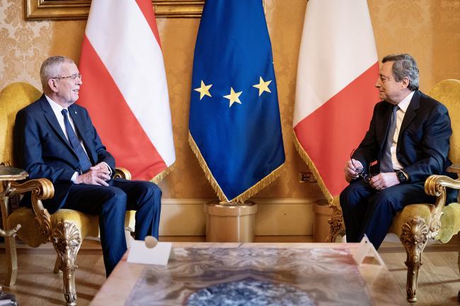 Draghi incontra il Presidente Federale della Repubblica d'Austria