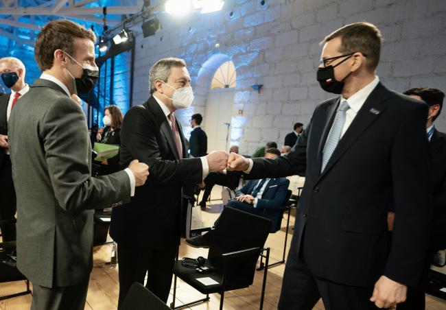Draghi al Porto Social Summit