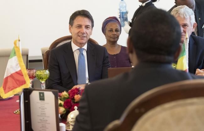 Incontro bilaterale del Presidente Conte Il Presidente Conte con il Primo Ministro d'Etiopia