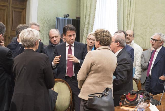Il Presidente Conte incontra i Sindacati