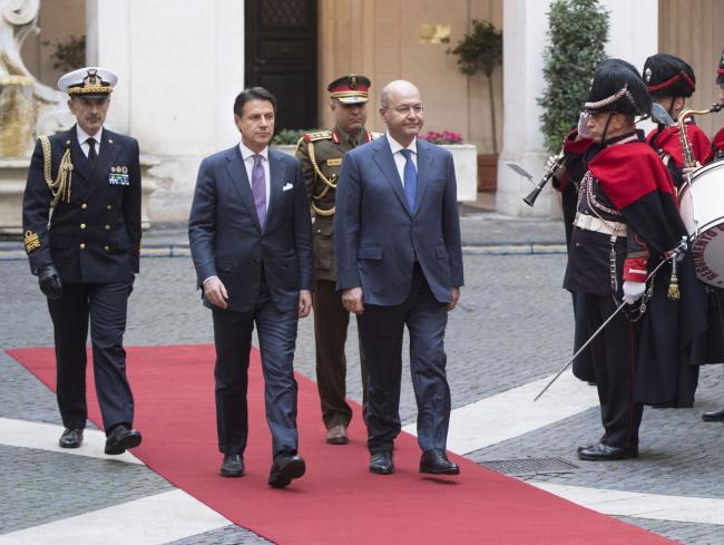 Conte riceve il Presidente della Repubblica d'Iraq