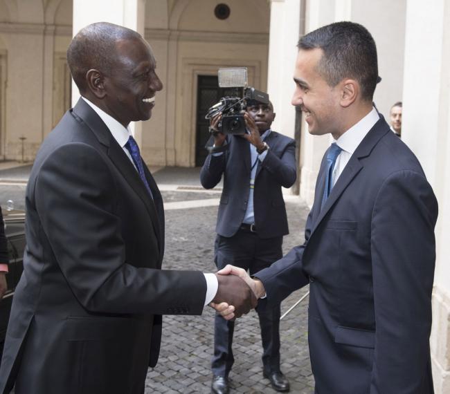 Di Maio incontra il Vice Presidente della Repubblica del Kenya