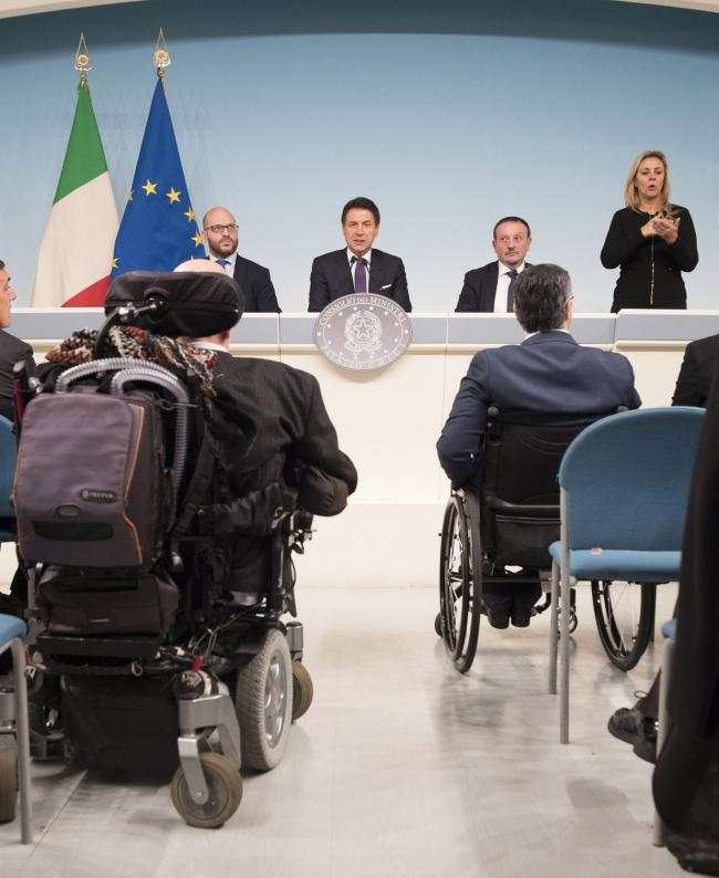 Gallerie Giornata internazionale delle persone con disabilità, conferenza stampa del Presidente Conte