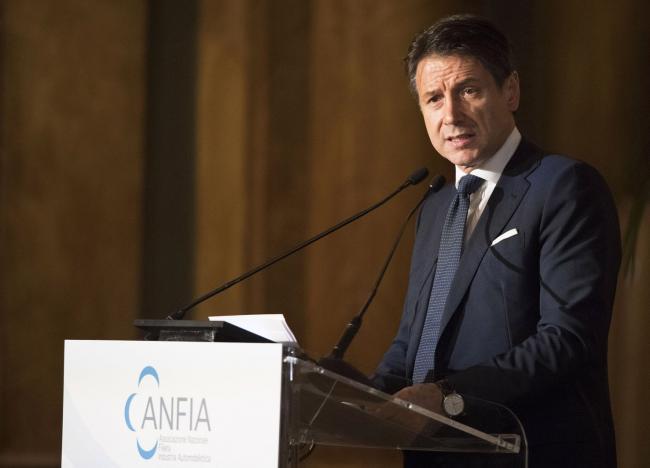 Il Presidente Conte interviene all'Assemblea pubblica ANFIA