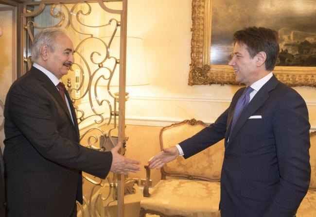 Conte incontra Haftar