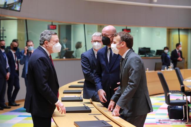 Draghi partecipa alla seconda giornata dei lavori del Consiglio europeo e all'Eurosummit