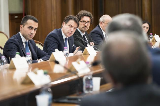 Conte incontra i Presidenti di Regioni, le Associazioni e i Sindacati