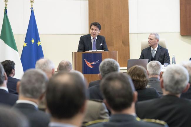 Il Presidente Conte all'inaugurazione dell'A.A. della Scuola del SISR