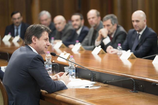 Il Presidente Conte incontra i Presidenti degli enti di ricerca