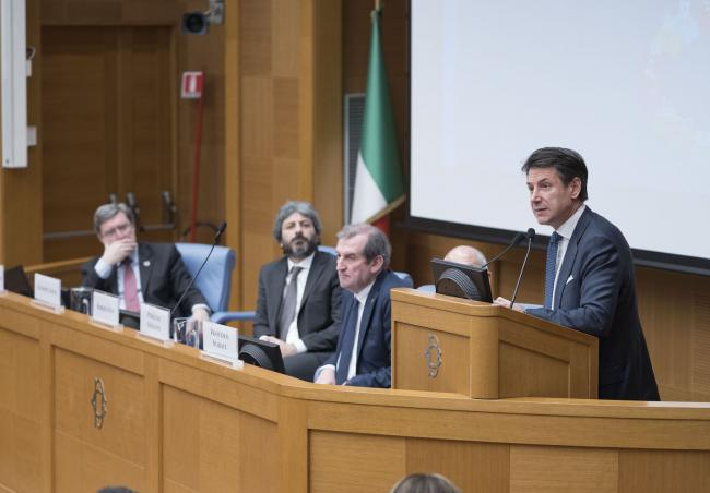 Il Presidente Conte interviene all'incontro dell'ASVIS