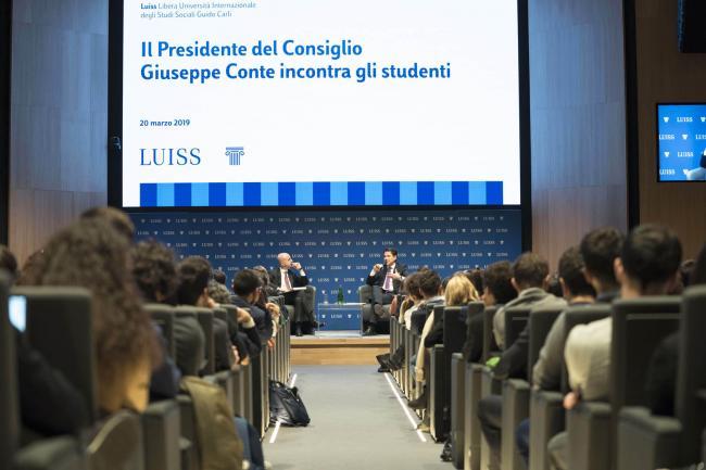 Il Presidente Conte alla Luiss