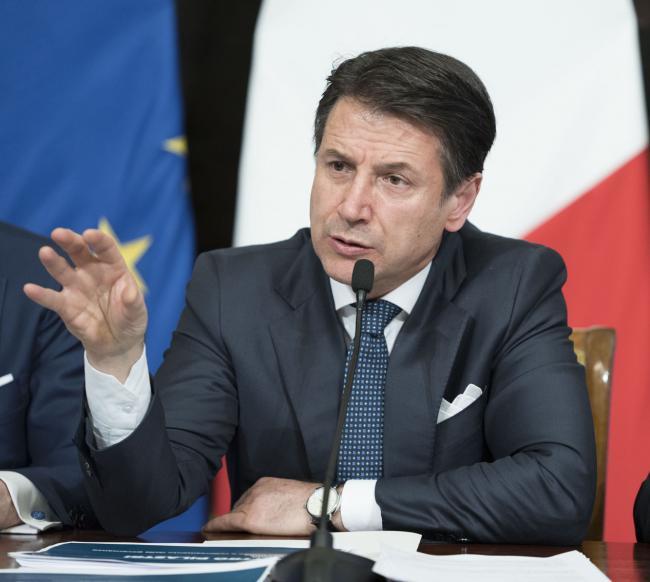 """Il Presidente del Consiglio, Giuseppe Conte, in conferenza stampa per la presentazione di """"ProteggItalia"""""""