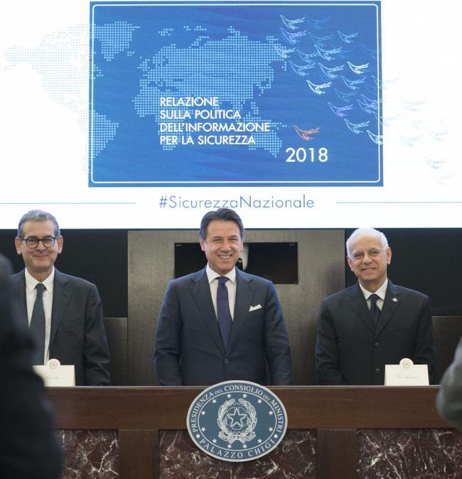 Il Presidente Conte presenta la Relazione sulla politica dell'informazione per la sicurezza 2018