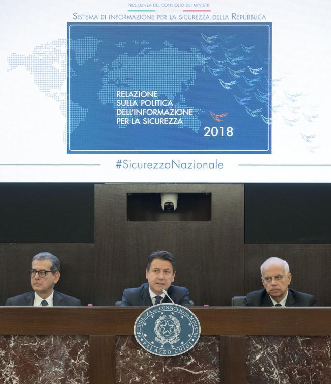 Presentazione della Relazione sulla politica dell'informazione per la sicurezza 2018