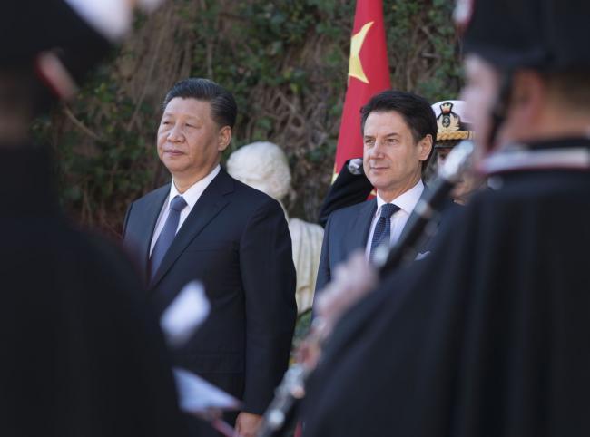 Il Presidente Conte accoglie a Villa Madama il Presidente Xi Jinping